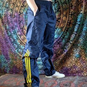 Adidas windbreaker pants blue / yellow
